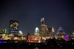 The Austin skyline at SXSW (photo: Christopher Nelson)