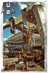 U2 production at Qwest Field (photo: Mike Savoia)