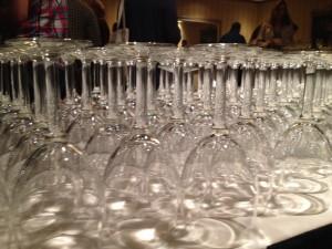 Wine glasses at a tasting (photo: Gene Stout)