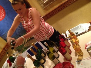 A server pours wines of southern France (photo: Gene Stout)