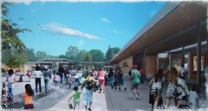 New West Entrance (rendering: Weinstein A/U)