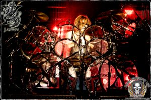 Drummer-pianist Yoshiki (photo: Mike Savoia)